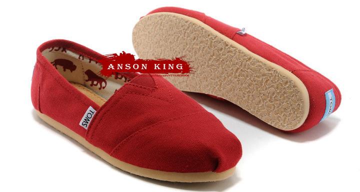 [女款] 國外代購TOMS 帆布鞋/懶人鞋/休閒鞋/至尊鞋 帆布系列 紅色