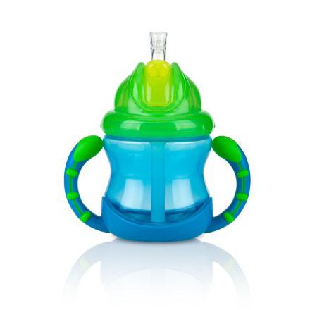【悅兒樂婦幼用品?】Nuby 雙耳防漏彈跳吸管水杯 240ml