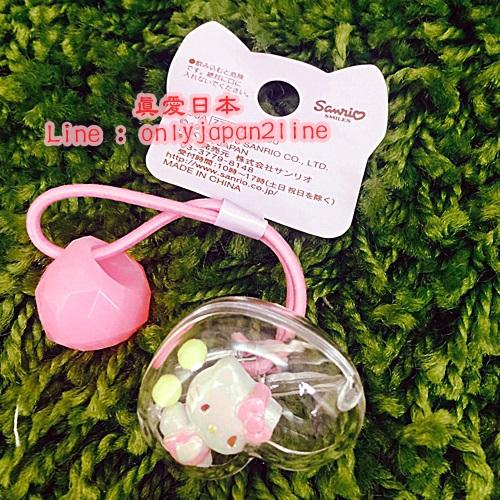 【真愛日本】16092300011造型髮束-KT七彩糖衣珠珠愛心  三麗鷗 Hello Kitty 凱蒂貓 髮飾 飾品 正品
