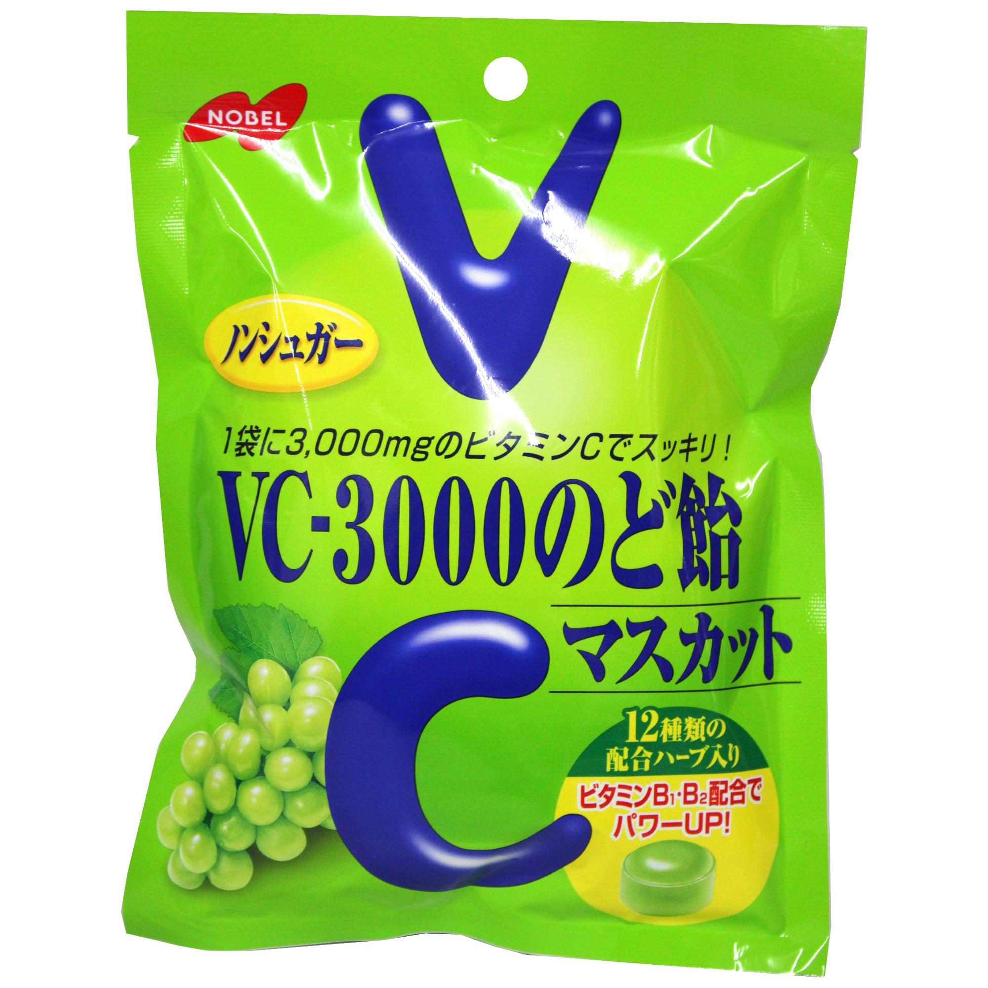 NOBEL 諾貝爾 V-3000 檸檬喉糖 90g