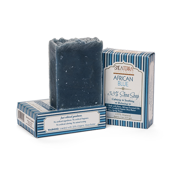 【SHEA TERRA】 33%乳油木果皂(非洲藍艾菊)