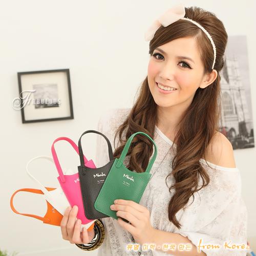 ☆Fabulous☆Fantasy【MK0225】韓製Mink皮感縫線手機袋