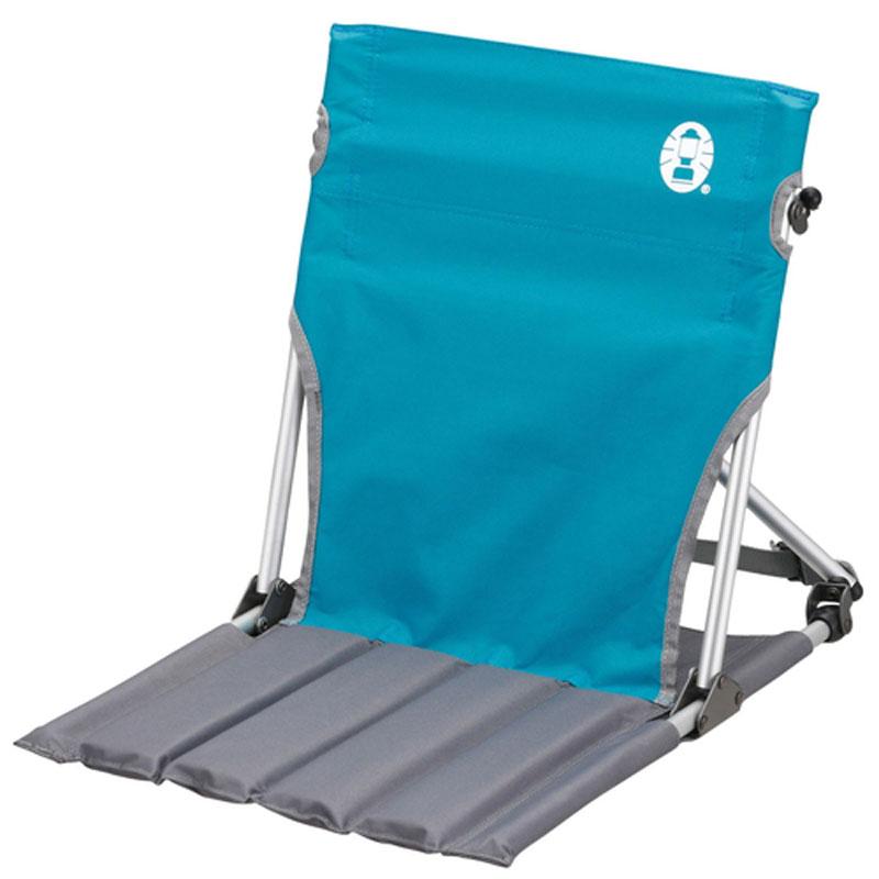 【鄉野情戶外專業】 Coleman  美國  折疊椅.野餐椅.露營椅輕巧緊湊地板椅-天空藍 CM-7672JM000