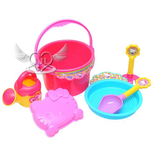 *JJL*HELLO KITTY 6件組沙灘玩具組 玩沙組玩具 123568 夏日必備