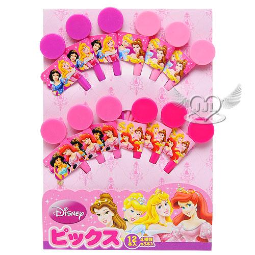 *JJL*日本製迪士尼公主水果叉三明治叉點心叉子12入 147029
