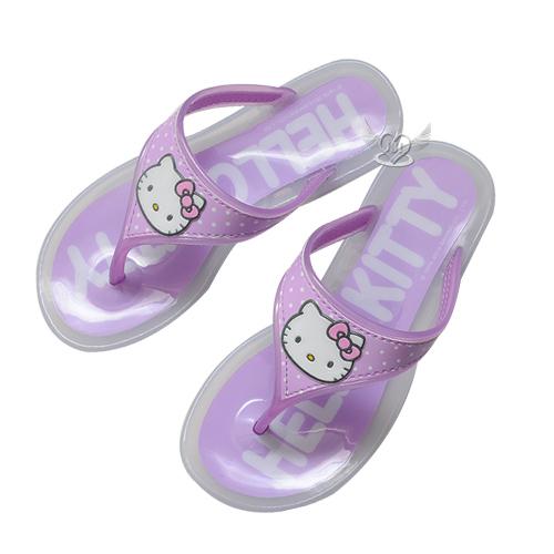 HELLO KITTY兒童拖鞋夾腳拖鞋果凍拖鞋紫色18~23cm台灣製 6選1 95710320*JJL*