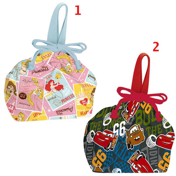 日本製迪士尼公主閃電麥坤便當袋餐袋手提袋束口袋 2選1 07283987*JJL*