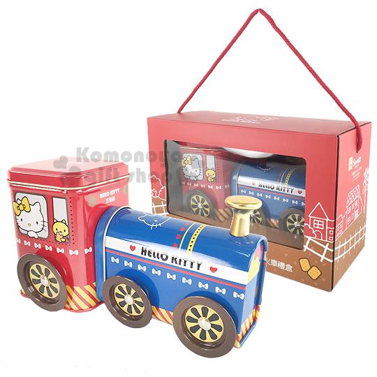 〔小禮堂〕Hello Kitty 鹹蛋黃方塊酥 小火車禮盒《紅.火車頭》