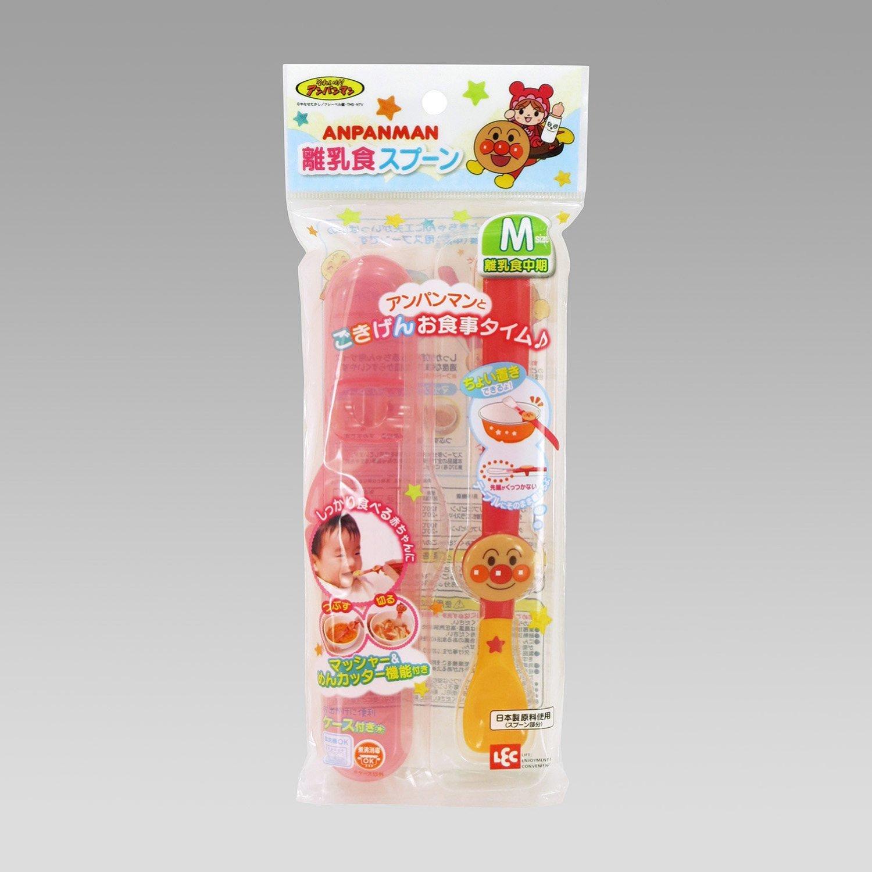 **雙子俏媽咪親子館** [日本] 麵包超人 Anpanman  幼兒調理湯匙 離乳中期 M size 附外出盒 兒童餐具