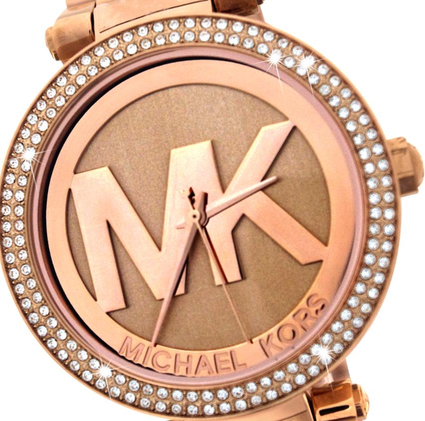 美國Outlet 正品代購 Michael Kors MK LOGO 玫瑰金 鑲鑽 計時 手錶 腕錶 MK5865