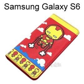 復仇者彩繪皮套 [鋼鐵人] Samsung G9200 Galaxy S6【正版授權】