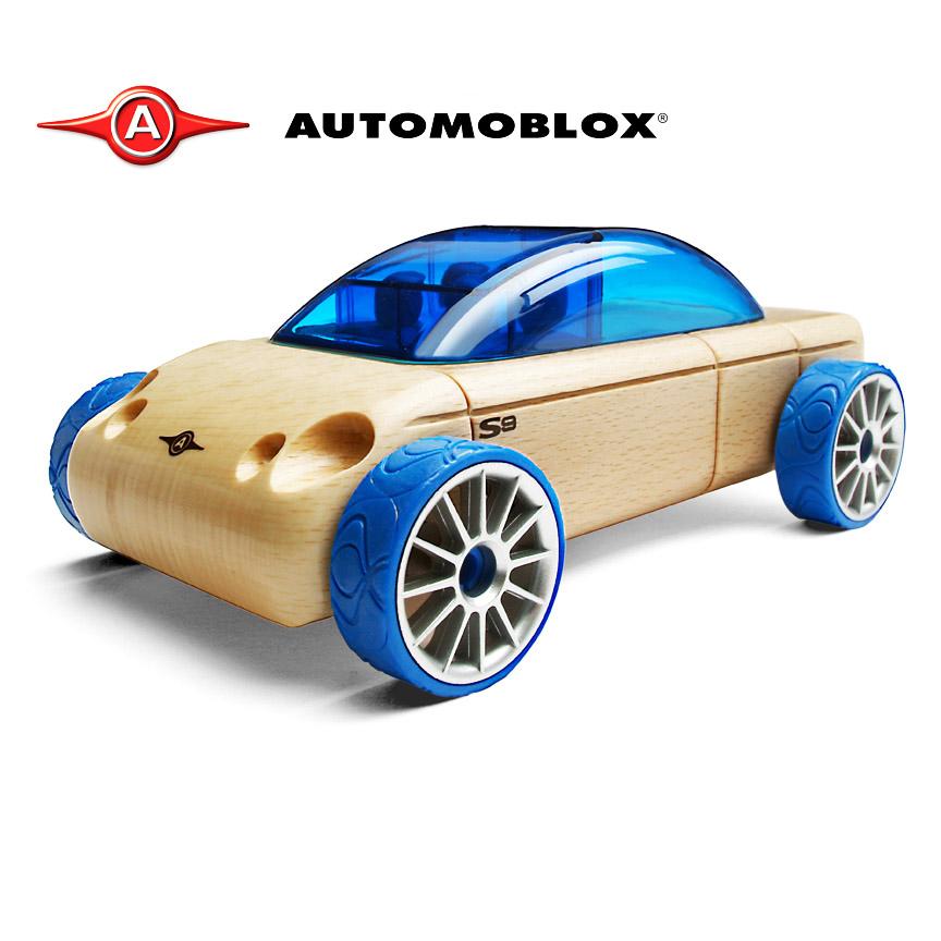 Automoblox經典原木拼裝車-S9 轎車
