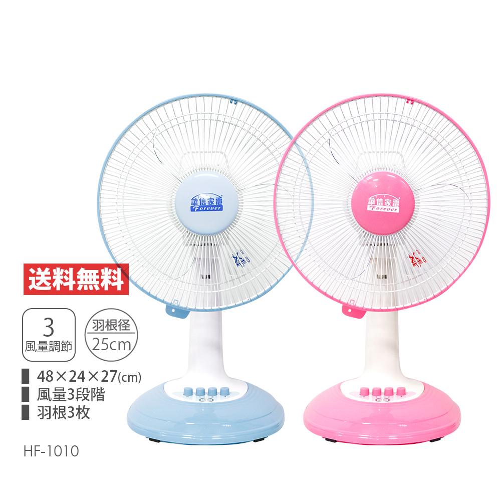 【華信】台灣製造10吋桌扇/電風扇(藍/粉) 顏色隨機 HF-1010