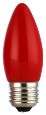 ★凌尚★蠟燭型霧面LED蠟燭燈燈泡E27燈頭★紅色