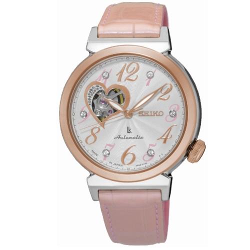 SEIKO LUKIA 時尚品味機械女腕錶/鱷魚皮錶帶/4R38-01C0P(SSA842J1)