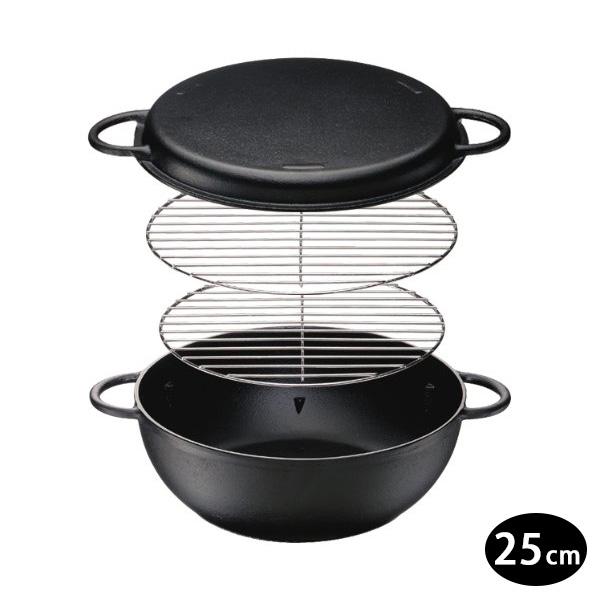 日本進口 IH對應鐵人鍋/萬用鍋/鑄鐵鍋25cm