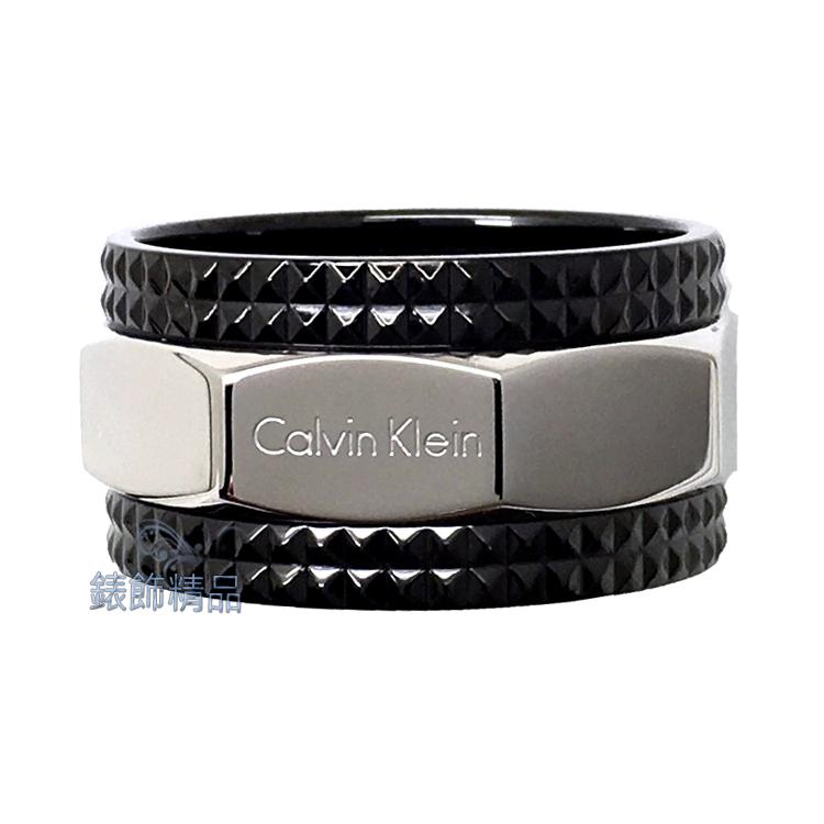 【錶飾精品】Calvin Klein CK飾品 ck男性戒指 316L白鋼 KJ4JBR2001 全新原廠正品 情人禮品