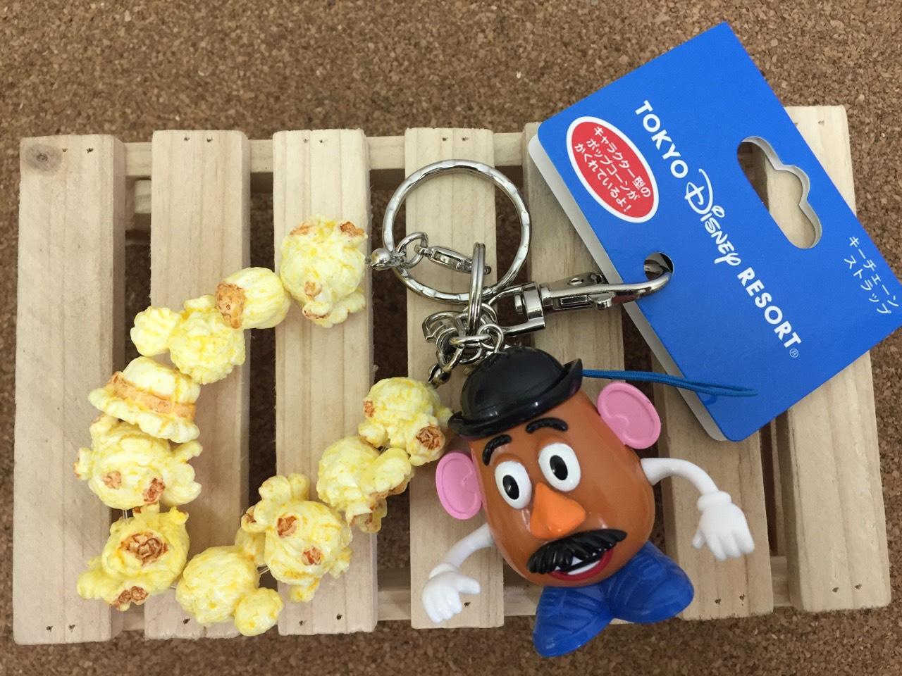 【真愛日本】15061300022 樂園限定鎖圈-爆米花筒蛋頭 迪士尼 玩具總動員 TOY 吊飾 飾品 鑰匙圈 正品 限量 預購
