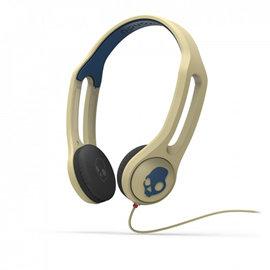 志達電子 S5IHDY-306 卡其色/海軍藍 美國 Skullcandy ICON 3 耳罩式耳機 for Apple Android