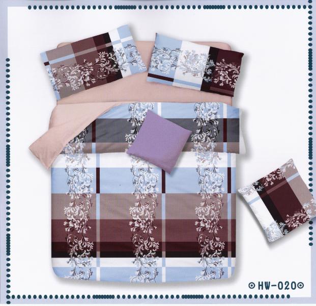 ?臺灣製?舒柔棉磨毛超細纖維床包組《HW-0020》5X6.2尺雙人床包組+兩用被 四件組◤彩虹森林◥