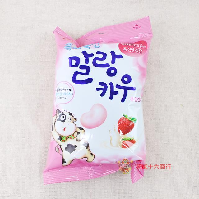 【0216零食會社】LOTTE 乳牛鮮奶棉花糖(草莓口味)63g