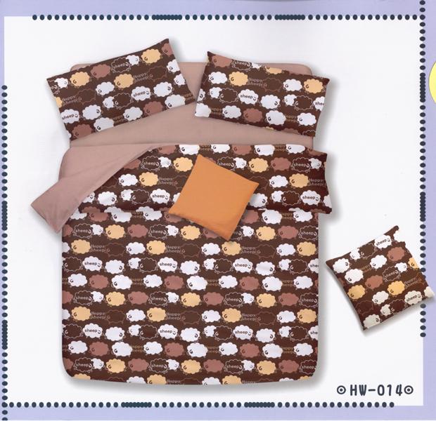 ?臺灣製?舒柔棉磨毛超細纖維床包組《HW-0014》5X6.2尺雙人床包組+兩用被 四件組◤彩虹森林◥