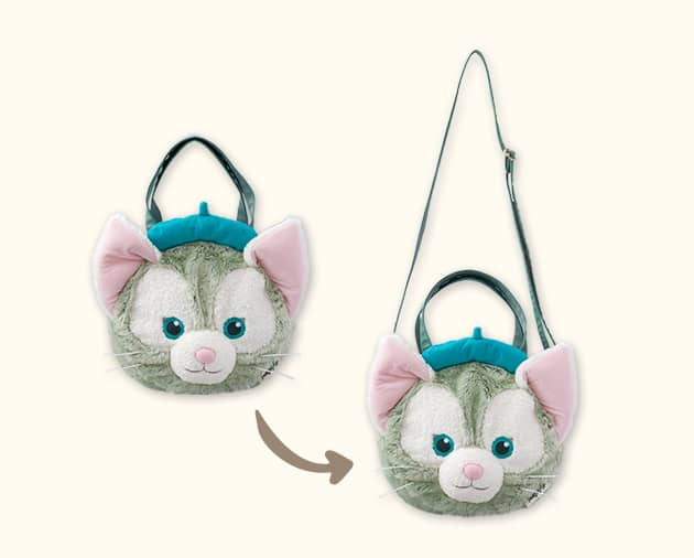 【真愛日本】16051100048經典頭型肩側背包袋-傑力東尼大臉  Duffy 達菲熊&ShellieMay 斜背包 手提包