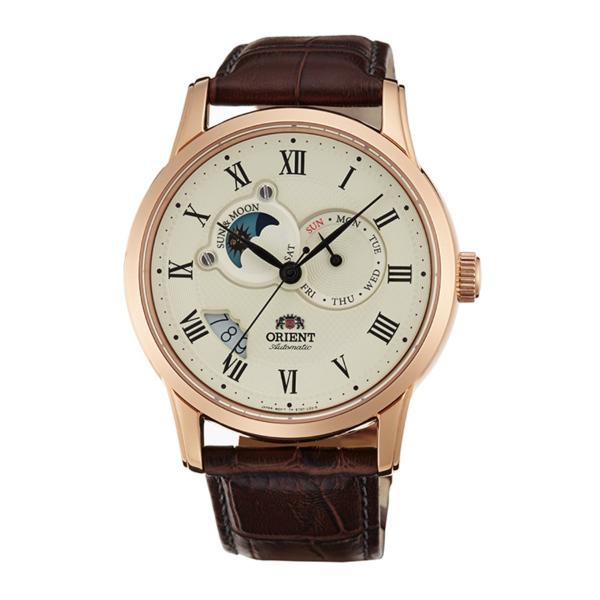Orient 東方錶(SET0T001W)65週年羅馬數字日月相機械腕錶/白面42.5mm