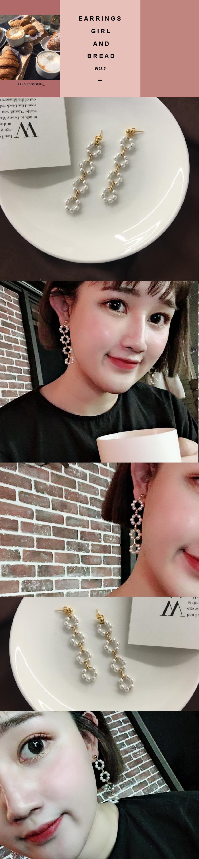 韓國飾品,珍珠耳環,夾式耳環,針式耳環,垂墜耳環,花圈式耳環