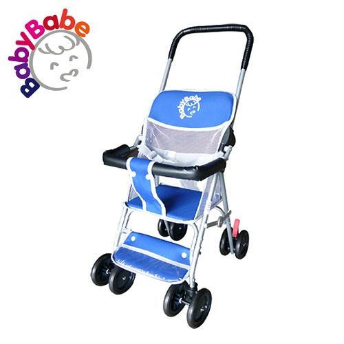 【BabyBabe】輕便型手推車/藍