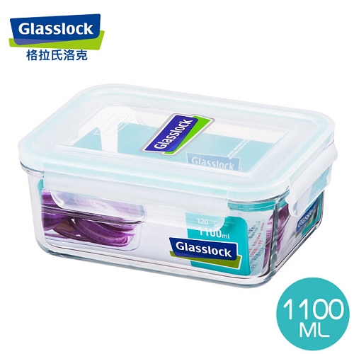 【Glasslock】大強化玻璃保鮮盒1100ml(RP518/MCRB-110)
