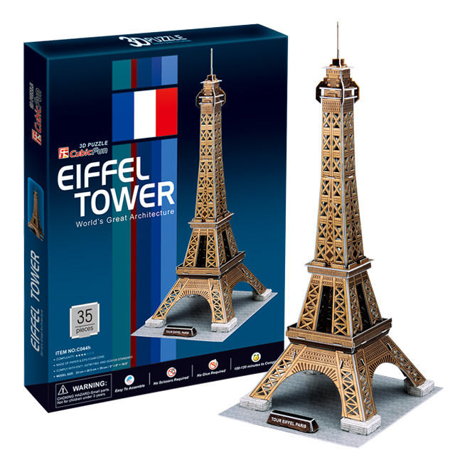 【3D Puzzle】世界建築精裝版-巴黎艾菲爾鐵塔