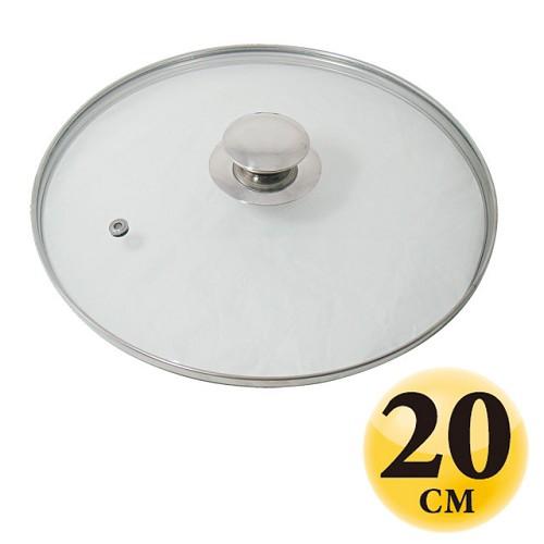 A0743【巧易視】20cm鋼化耐熱玻璃蓋(台製)