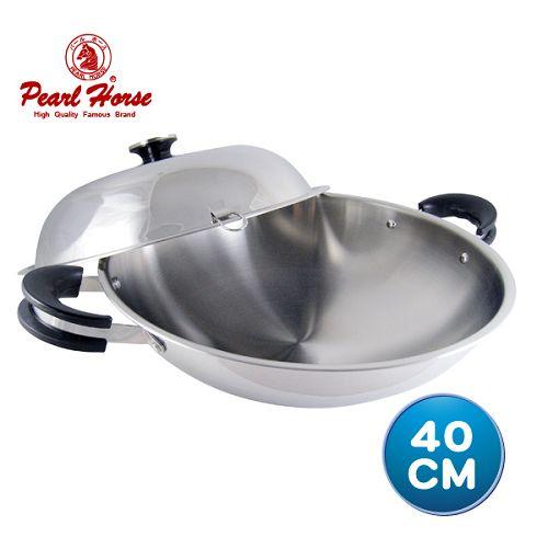 【寶馬牌】七層鋼炒鍋40cm-雙耳(JA-S-095-040)