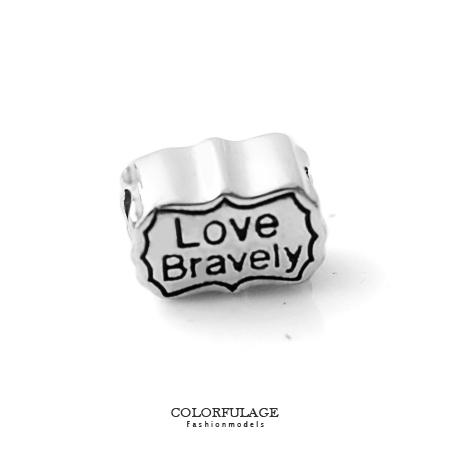 組合字母串珠手鍊 Love Bravely刻字造型穿式鋼墜手環 抗過敏氧化 柒彩年代【NT34】CHARMS