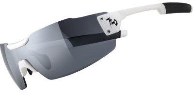 720armour Clipper 單車三鐵設計款 廣角一體運動太陽眼鏡 T996-2 亮白框灰薄白水銀防爆PC片