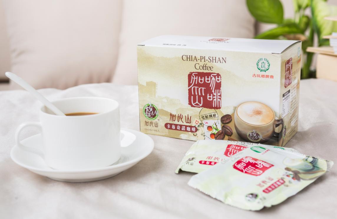 古坑鄉農會 加比山卡布奇諾咖啡 (12g*18包)一盒 即溶咖啡 隨身包 寶島179