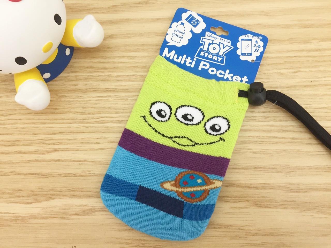 【真愛日本】15101100011 多功能毛襪收納袋-三眼怪 迪士尼 玩具總動員 TOY 收納袋 化妝包 手機袋