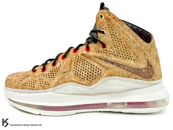 2013 NBA 頂級籃球鞋 小皇帝 LeBRON JAMES 代言 NSW 休閒款式 限量發售 NIKE LEBRON X 10 EXT CORK QS 總冠軍紀念 香檳 軟木塞 雷射 FLYWIR..