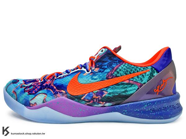 2013 限量發售 合體特別版 NIKE KOBE VIII 8 SYSTEM PREMIUM WHAT THE KOBE 低統 曼巴蛇 蛇紋 兩隻腳不同色 Kobe Bryant 代言 籃球鞋 EN..