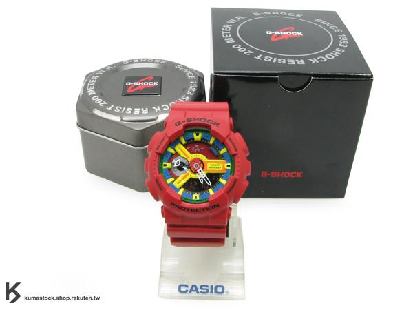 [10%OFF] 超高人氣 2011 秋冬新色 日本限定款 CASIO G-SHOCK GA-110FC-1ADR 紅黑 黃橘綠藍錶面 霧面錶帶 紅樂高 !