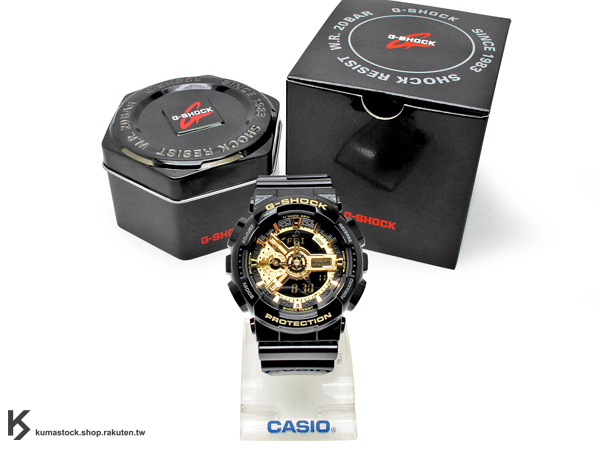 [10%OFF] 詢問度超高 經典人氣配色 日本限定款 CASIO G-SHOCK GA-110GB-1ADR 黑 黑金 金色 亮面 !