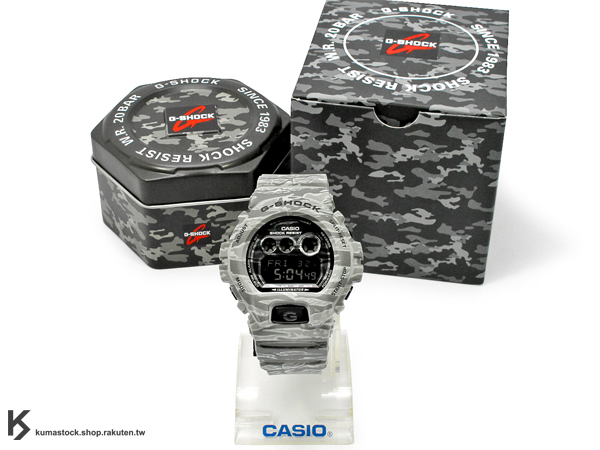 [10%OFF] kumastock 最新入荷 2014 30 周年限定機型 超大 53.9mm 錶徑 CASIO G-SHOCK GD-X6900CM-8DR 灰色 虎紋 迷彩 系列 霧面錶帶 !