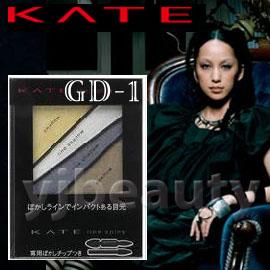 特價產品 / KANEBO 佳麗寶 KATE凱婷 『極耀叛逆四色眼影盒』GD-1(金色系)--中島美嘉代言