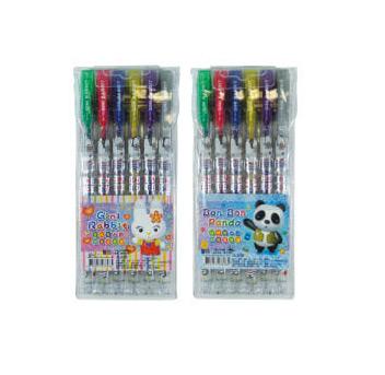 吉妮家族 2300898 6色閃亮金蔥筆 A/B (款式隨機出貨) / 盒
