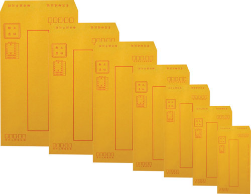 加新 7HK004 (入袋)大4K紅框公文封(3個/束)