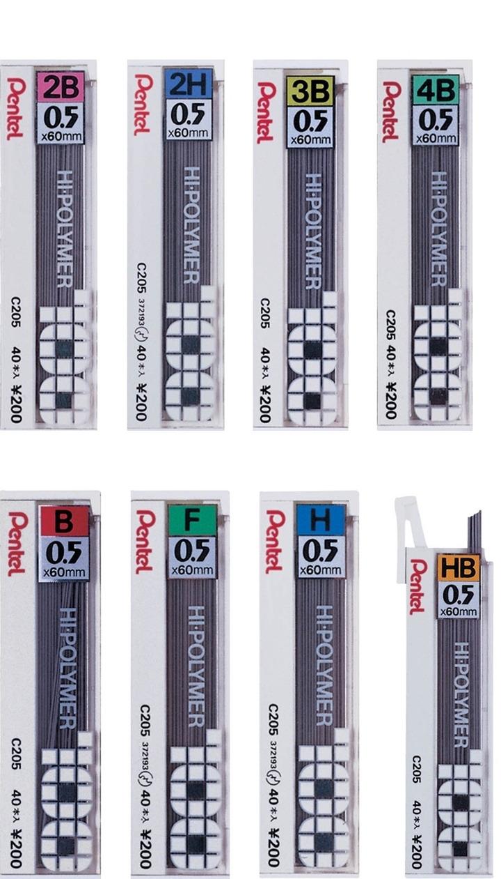 【促銷】Pentel 飛龍 C205 自動鉛筆芯-0.5mm 40支入 / 個