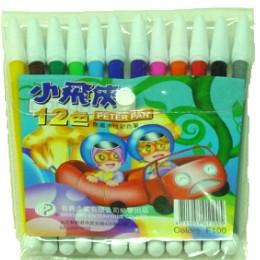 (台灣製)小飛俠12色無毒F100水性彩色筆 12盒 / 箱