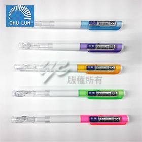 巨倫 A-1593 LED 燈筆 + 哨子 原子筆 顏色隨機出貨 /支