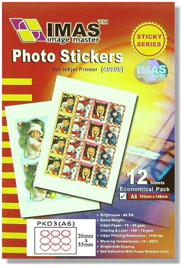 【萬事捷】5505 高光自黏大頭貼相紙 PKD3 經濟包(12張/包)